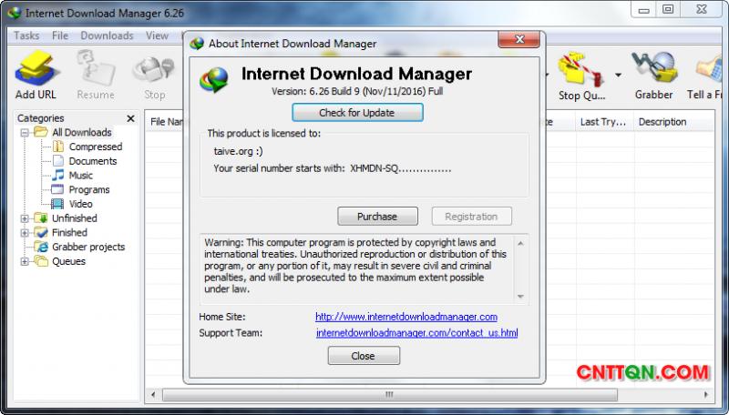 Internet Download Manager (IDM) 6.26 build 9 Full Crack
