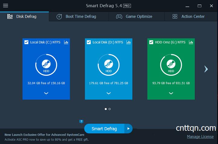 IObit Smart Defrag 5.4  - Chống phân mảnh ổ cứng