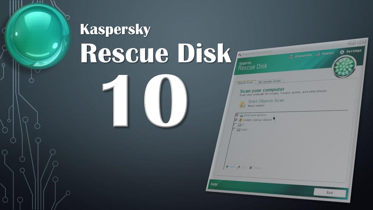 Kaspersky Rescue Disk 10 ISO mới nhất 2017