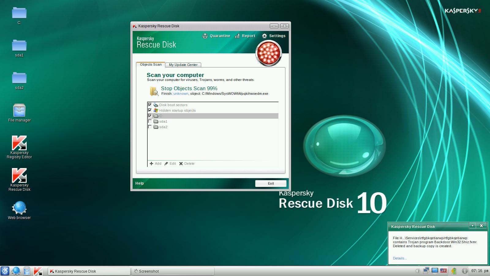 Hướng dẫn tạo USB Kaspersky Rescue Disk 10