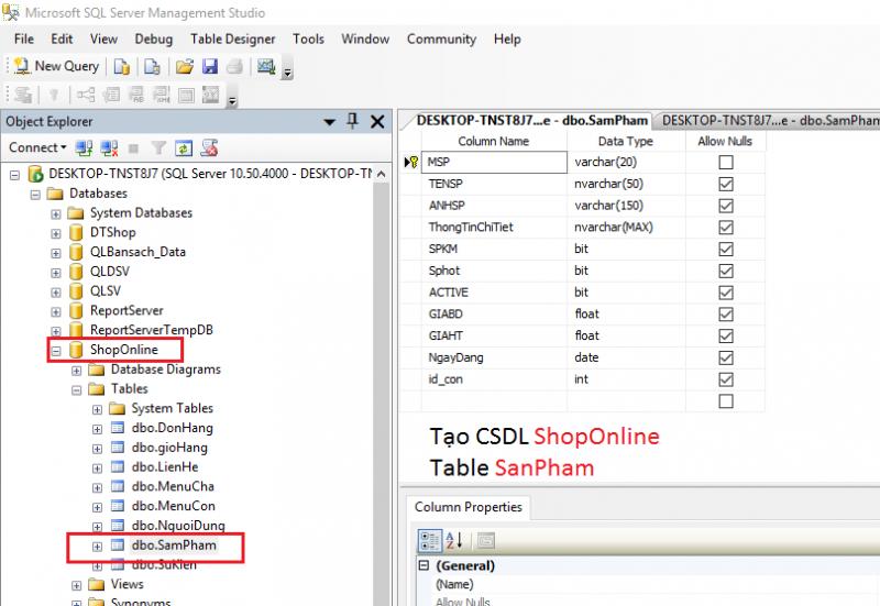 Kết nối CSDL và hiển thị DataList  cơ bản trong ASP.NET