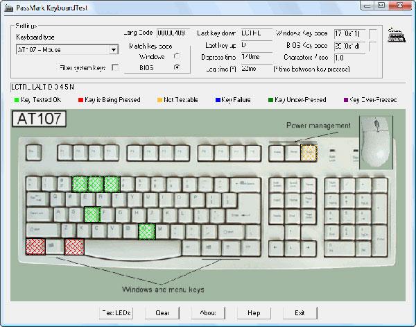 Download Keyboard test - Kiểm tra lỗi bàn phím, kiểm tra lỗi chuột