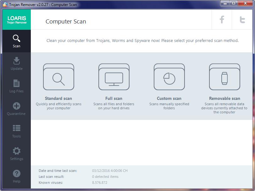 Loaris Trojan Remover 2.0.27 - Quét Trojan hiệu quả