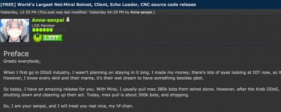 Mã nguồn Mirai botnet