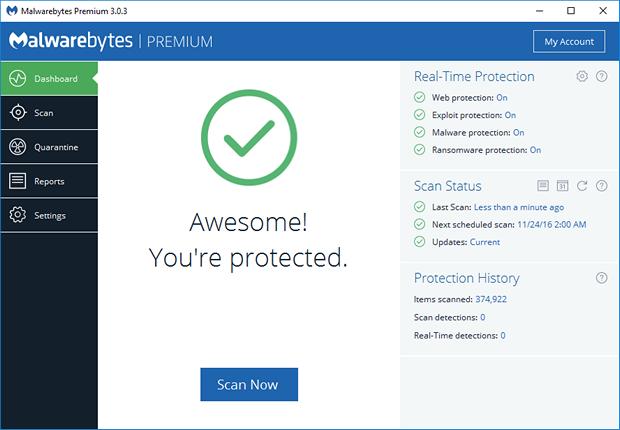 Malwarebytes 3.0.6.1469 CU4.1 - Chống virus, malware - diệt quảng cáo virus