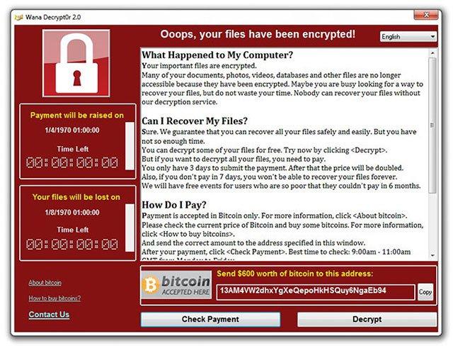 Cách gỡ bỏ / khắc phục ransomware WannaCry