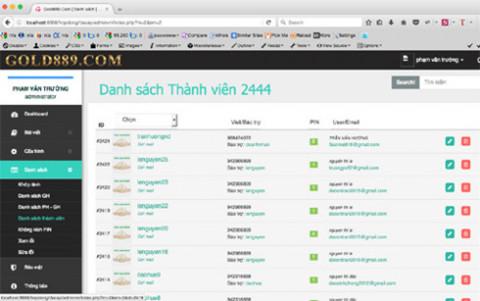 Bắt khẩn cấp kẻ cầm đầu tổ chức, điều hành website gold889.com