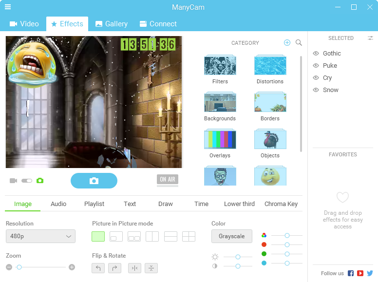 ManyCam Enterprise 5.1.0.4 Full - Tạo hiệu ứng Webcam