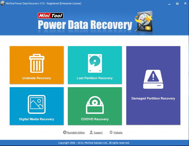 MiniTool Power Data Recovery 7.0 - Phần mềm khôi phục dữ liệu