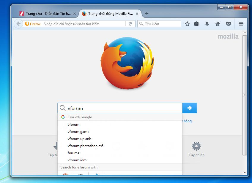 Mozilla Firefox 53.0 - Trình duyệt web an toàn và dễ sử dụng