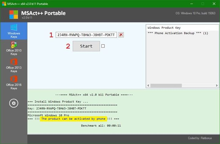 MSAct++ 2.04 Portable - Công cụ kích hoạt Windows & Office