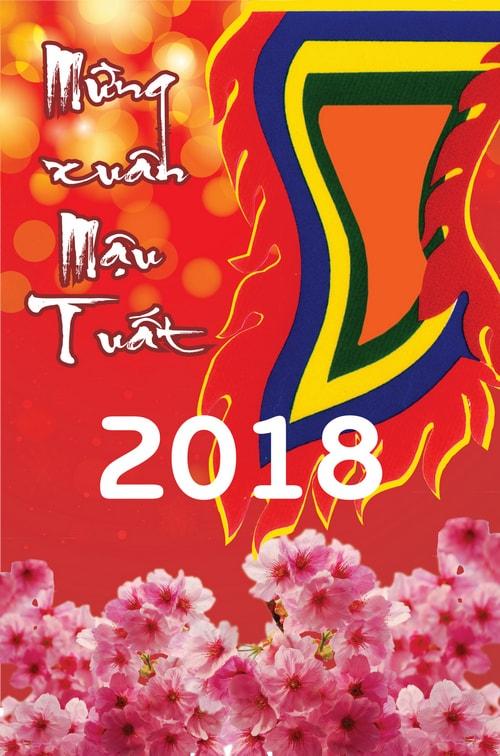 Tranh tuyên truyền Mừng Đảng Mừng Xuân Mậu Tuất 2018