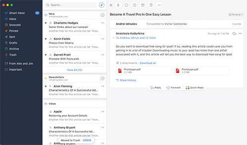 Ứng dụng giúp quản lý email hiệu quả hơn trên iPhone và Macbook
