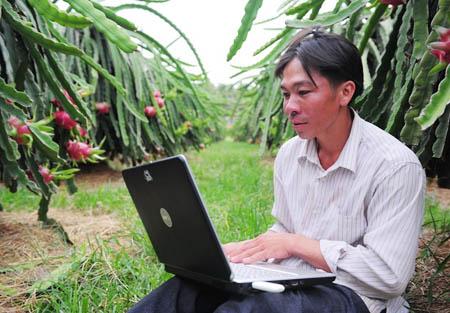 Nông dân thi... công nghệ thông tin