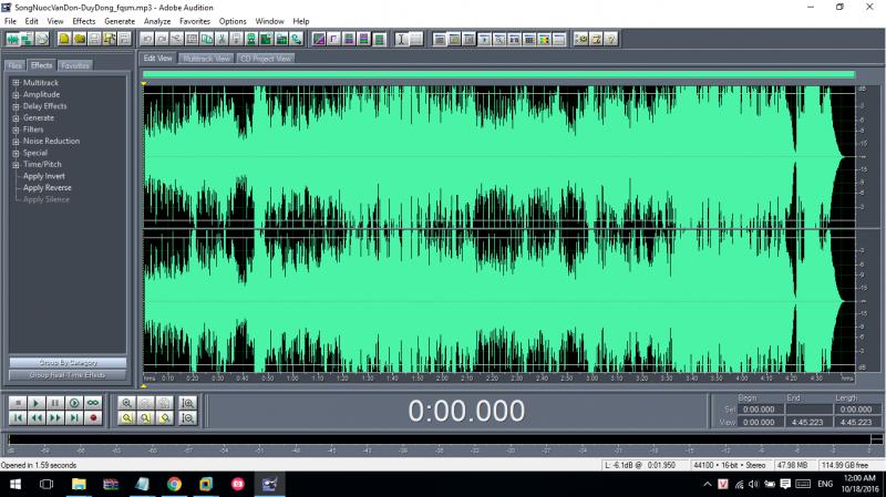 Hướng dẫn tách beat bài hát bằng Adobe Audition 1.5