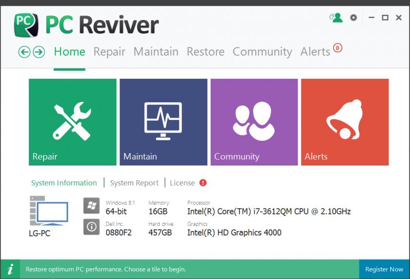 PC Reviver Full – Sửa lỗi hệ thống máy tính