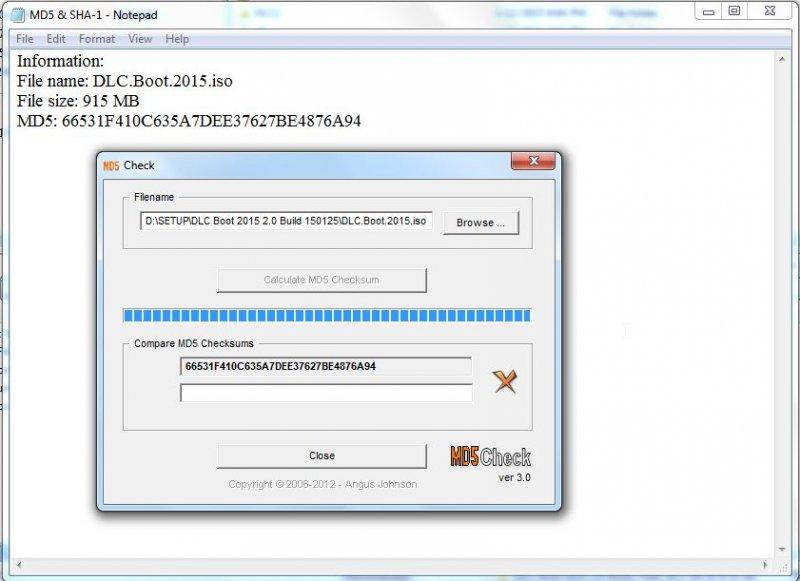 Phần mềm check kiểm tra mã MD5 cho file ghost, ISO