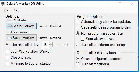 Phần mềm tắt màn hình Laptop, pc win 7 8 10 miễn phí