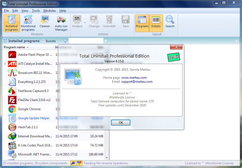Phần mềm Total Uninstall Professional 6.15.0 Full cr@ck