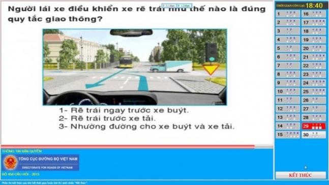 Phần mềm luyện thi lý thuyết lai xe ô tô 450 câu hạng B2, C, D, E, F