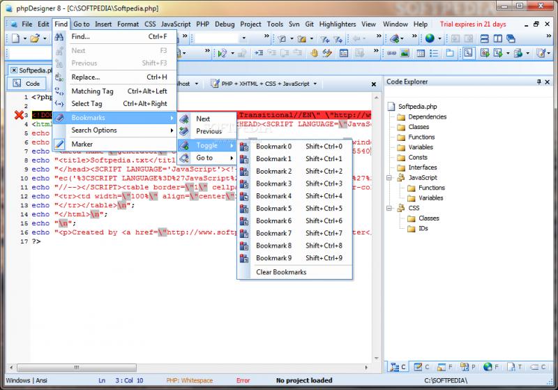 PHP Designer 8.1.2 Full + Crack – Phần mềm hỗ trợ lập trình PHP