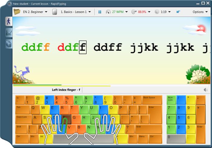 Rapid Typing Tutor 5.0.106 - Học gõ 10 ngón soạn thảo văn bản
