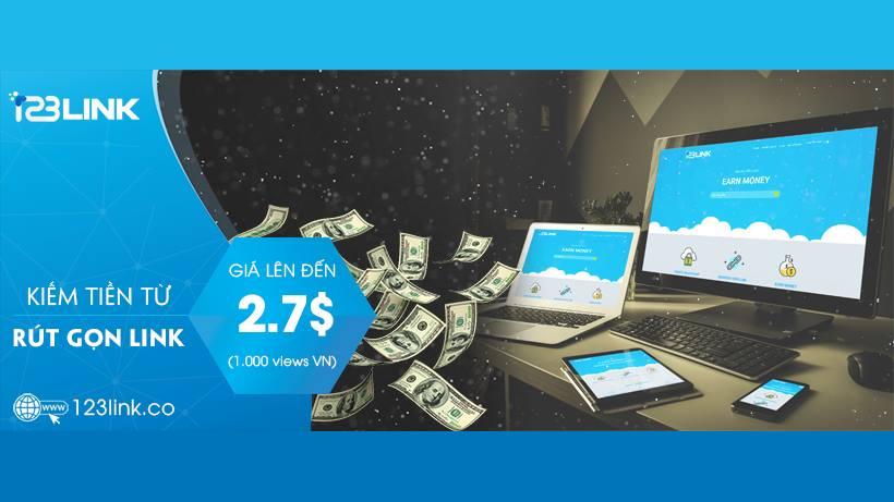 123Link - Trang web rút gọn link kiếm tiền uy tín nhất 2018