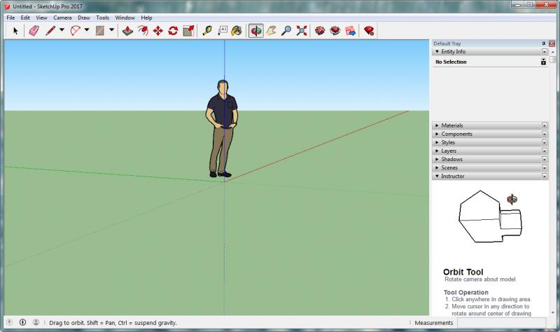 SketchUp Pro 2017 Full - Công cụ vẽ mô hình 3D