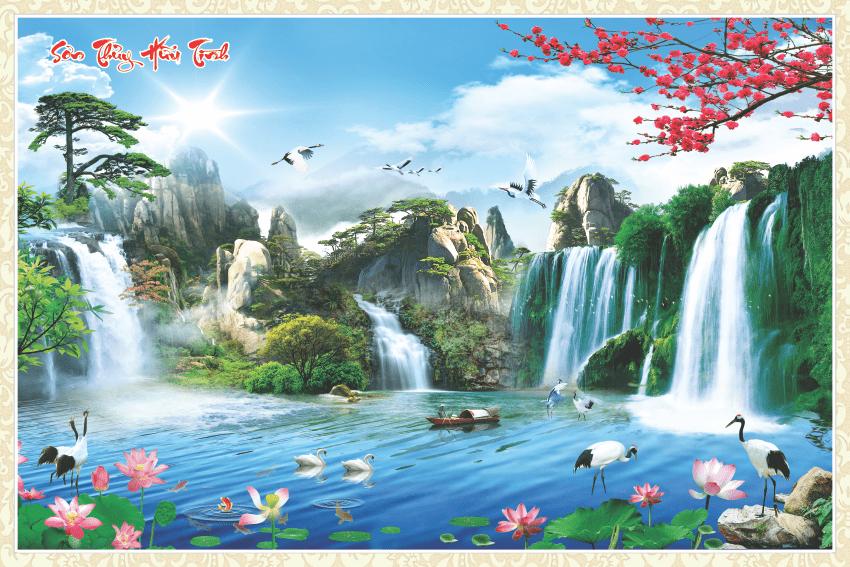 [Download] Tranh Sơn Thủy Hữu Tình đẹp