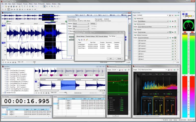 SONY Sound Forge Pro 11.0 - Biên tập, chỉnh sửa âm thanh