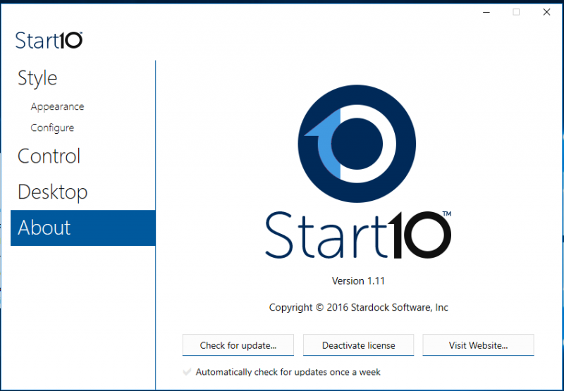 Stardock Start10 Activated Final – Thay đổi nút start của Win 10
