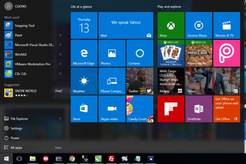 Những tính năng nổi trội của windows 10