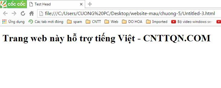 Head trong html là gì? cách sử dụng tag head trong html