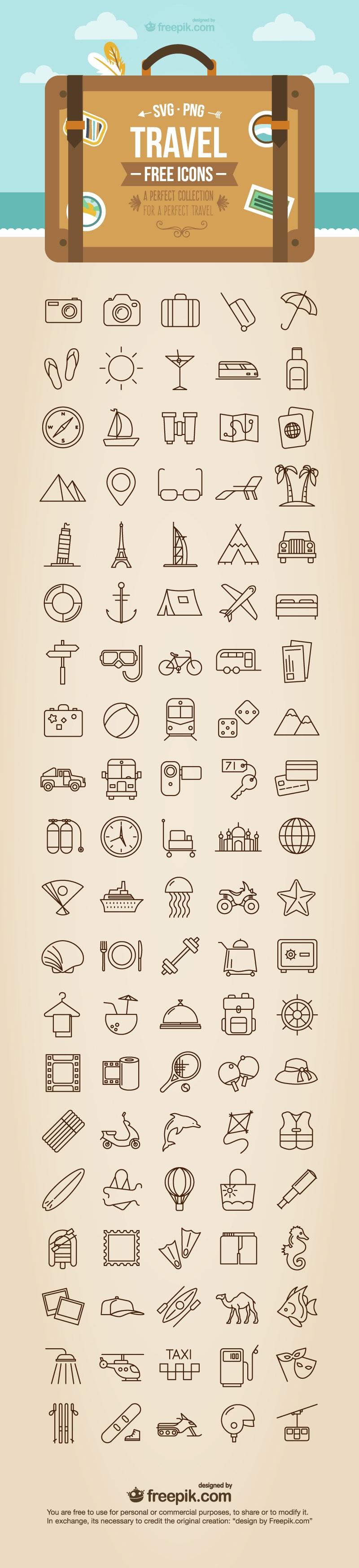 [Icon] Biểu tượng Du lịch Miễn phí (Các định dạng PNG + SVG)