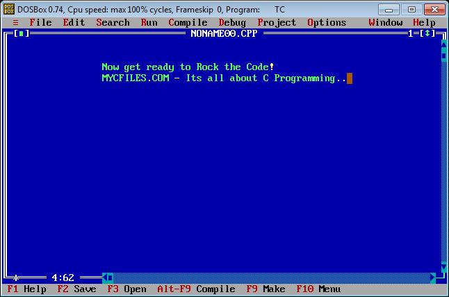 Download Turbo C BOSBox - Phần mềm lập trình C