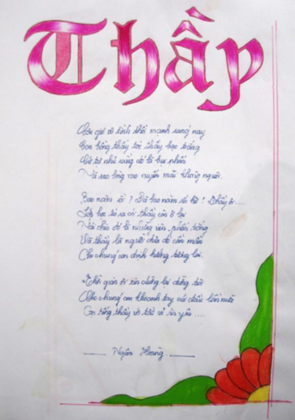 Tuyển tập những bài thơ hay tặng Thầy nhân ngày 20-11