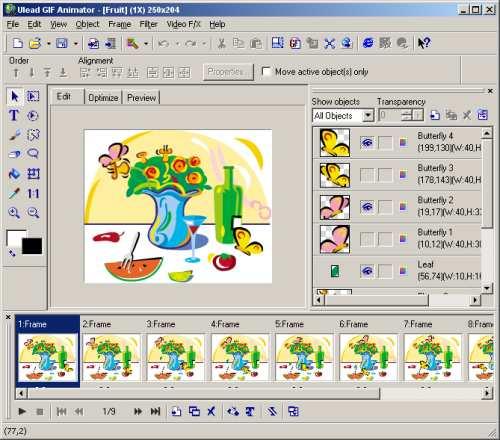 Ulead GIF Animator setup - Phần mềm sửa ảnh động