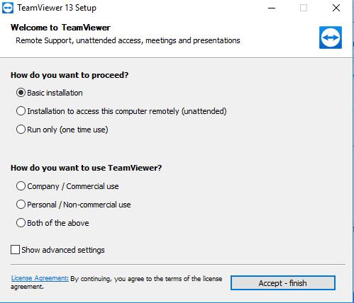 TeamViewer 13 Final- Truy cập, điều khiển máy tính từ xa miễn phí