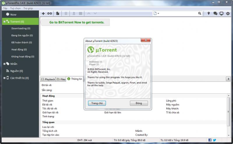 uTorrent Pro 3.4.9 - Tải file bằng hình thức chia sẻ ngang hàng