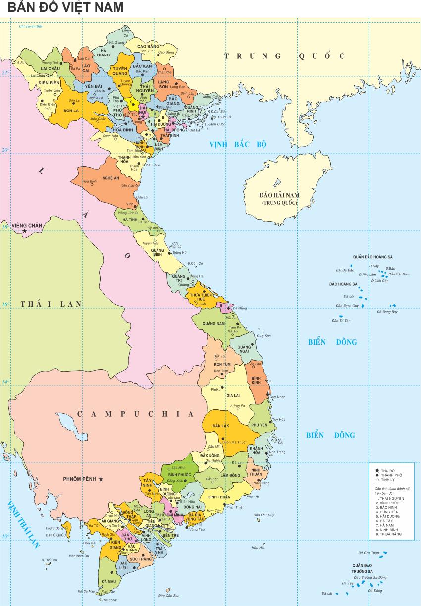 [Vector] Bản đồ Việt Nam file in ấn Coreldraw