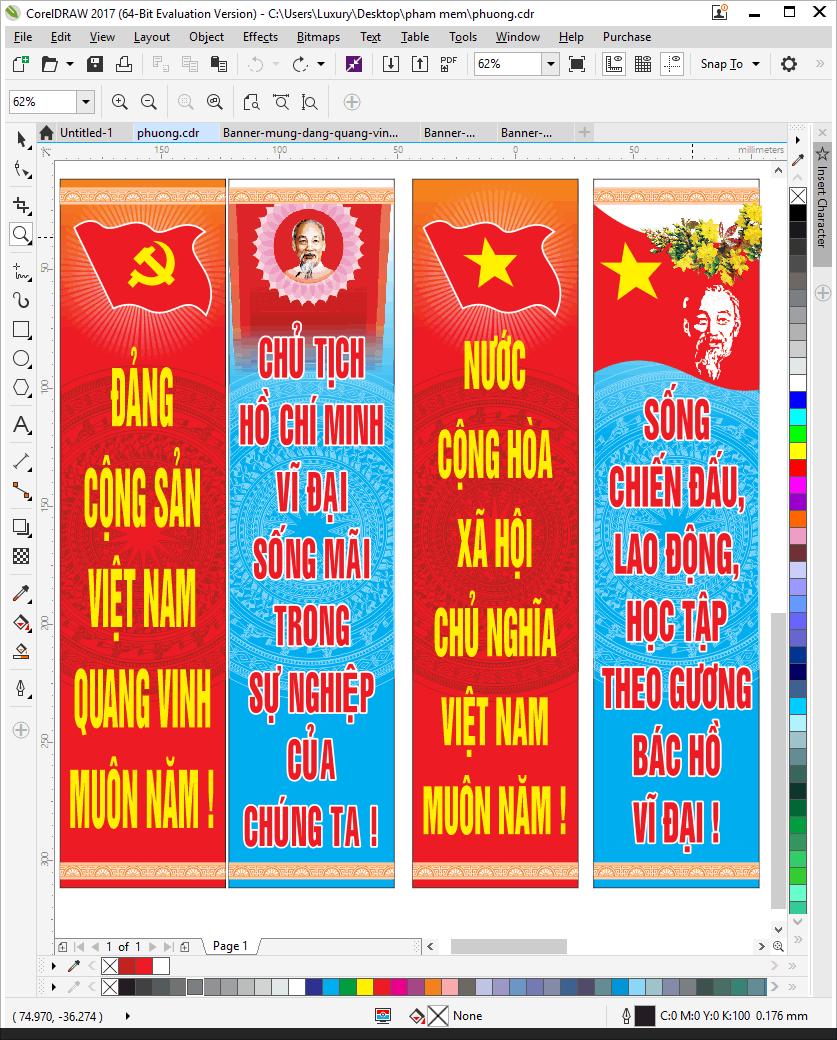 [Vector] Phướn tuyên truyền mừng đảng mừng xuân 2018 File Coreldraw