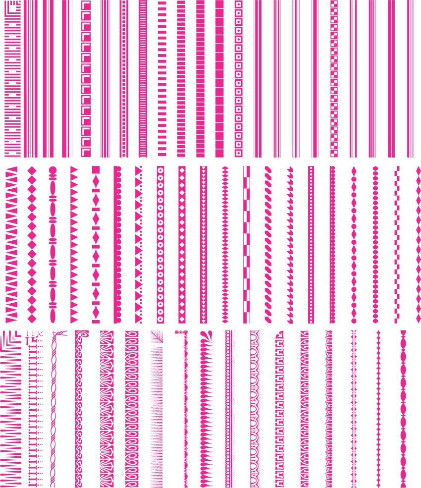 [Vector] Tổng hợp đường viền làm khung CorelDRAW