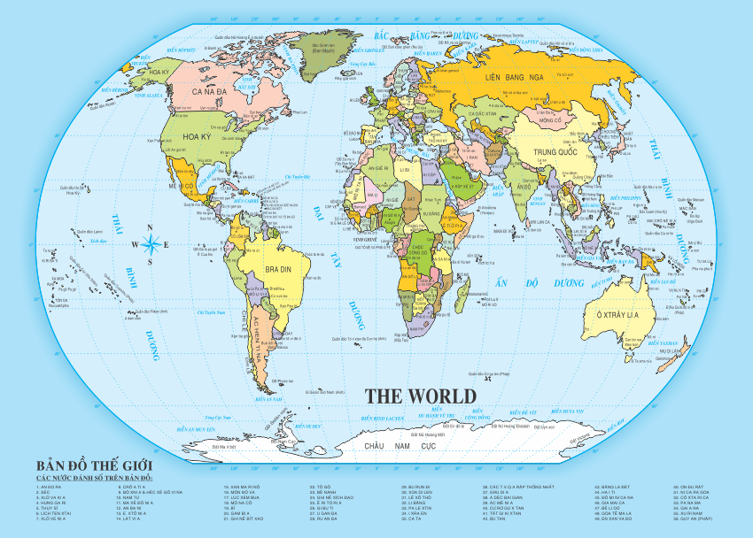 [Vector] Bản đồ thế giới file in Coreldraw