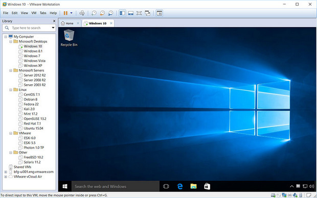 VMware Workstation 12.5.4 Pro + KEY - Phần mềm tạo máy tính ảo