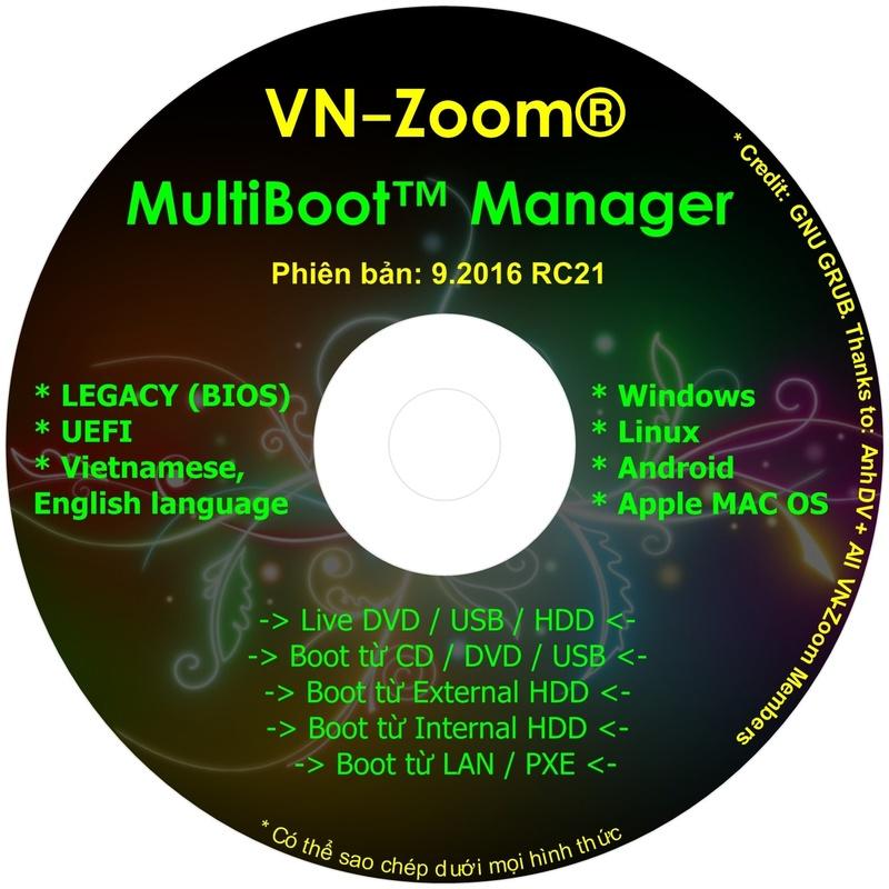 MultiBoot CD - Đĩa boot thế hệ mới, hỗ trợ song song chuẩn LEGACY VÀ UEFI