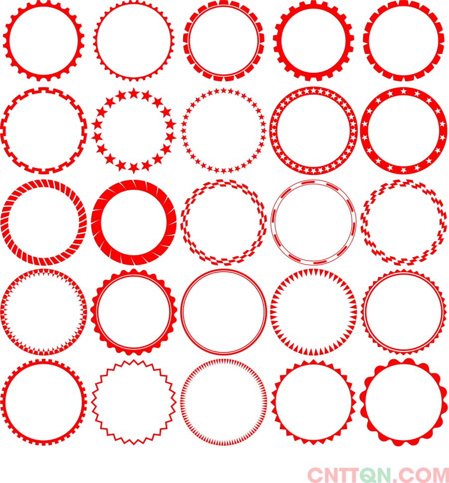 [Vector] Bộ sưu tập các khung viền trang trí tròn file CorelDraw