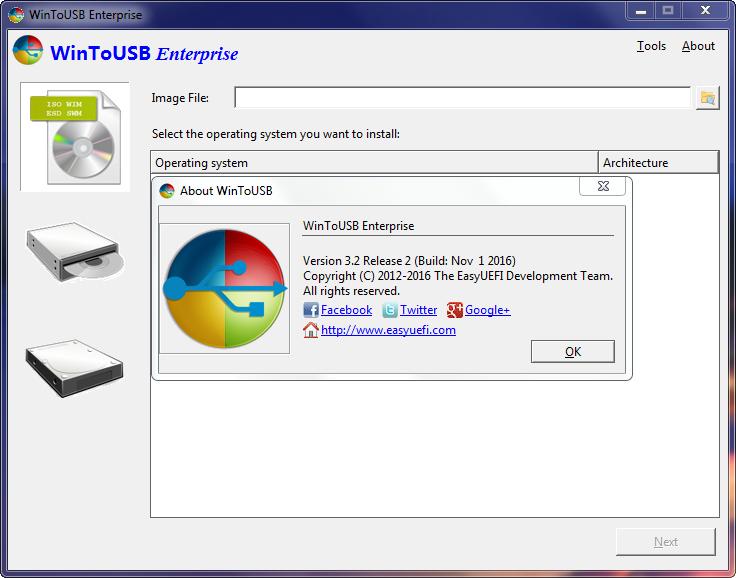 WinToUSB Enterprise 3.2 - Tạo USB cài Windows