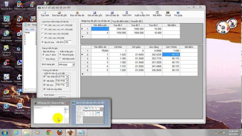[Download] Phần mềm trắc địa DPSurvey 2.8.6 Full