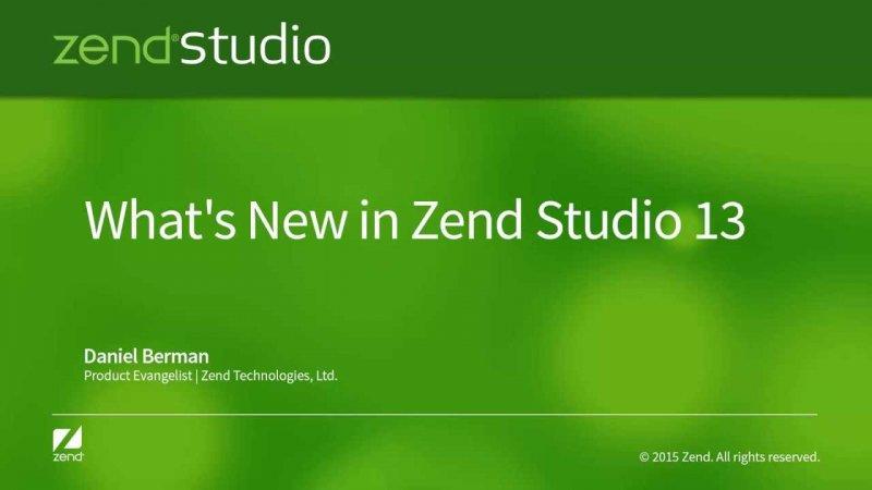 Phần mềm lập trình php - Zend Studio 13.0.0 Full