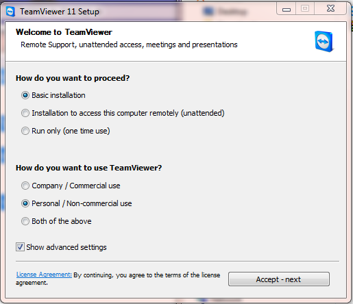 Teamviewer 11.0.50714 - phần mềm truy cập máy tính từ xa